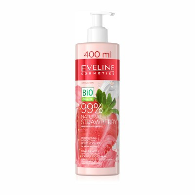 Eveline 99% Natural Strawberry Moisturising & Smoothing Body Yogurt 400 ml