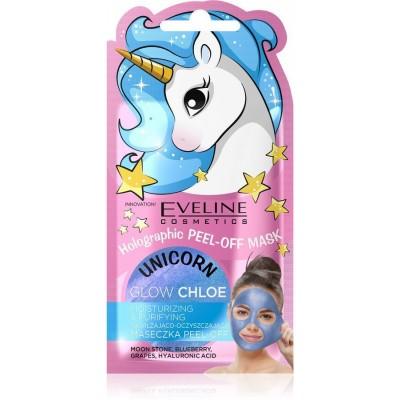Eveline Unicorn Peel-Off Mask Glow Chloe Moisturizing & Purifying 7 ml