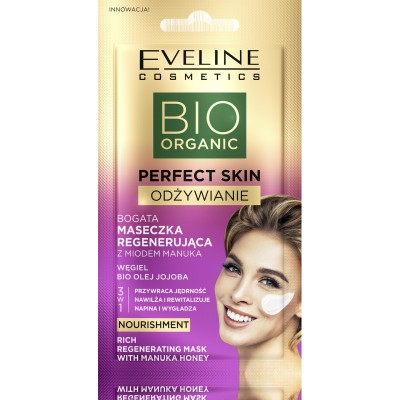 Eveline Perfect Skin Nourishment Rich Regenerating Mask With Manuka Honey 8 ml