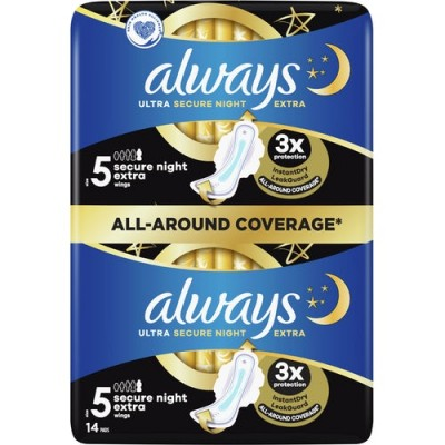 Always Ultra Secure Night Extra Wings 14 pcs