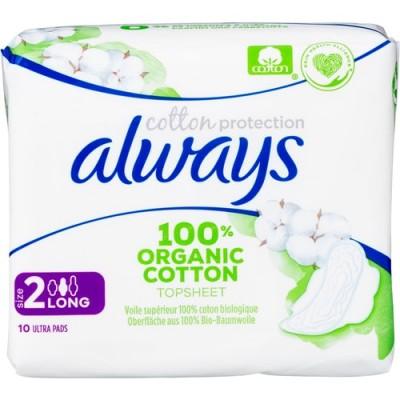 Always Cotton Long Pads 10 pcs