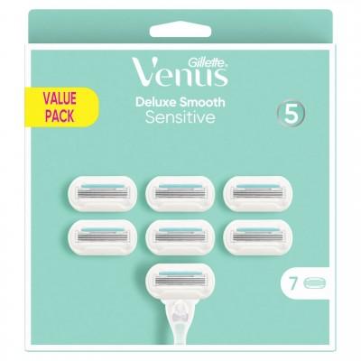 Gillette Venus Deluxe Smooth Sensitive Razor Blades 7 pcs