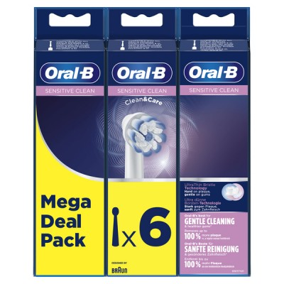 Oral-B Sensitive Clean & Care Toothbrush Heads 6 st