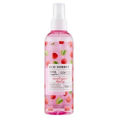 Bielenda Eco Sorbet Raspberry Face Toner Moisturizing And Soothing 200 ml