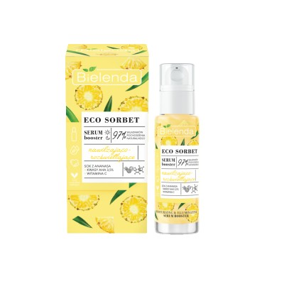 Bielenda Eco Sorbet Pineapple Serum Booster Moisturizing And Brightening 30 ml