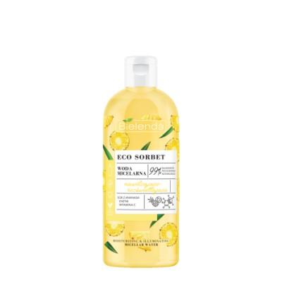 Bielenda Eco Sorbet Pineapple Micellar Water Moisturizing And Brightening 500 ml