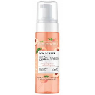 Bielenda Eco Sorbet Peach Micellar Cleansing Foam Moisturizing And Refreshing 150 ml