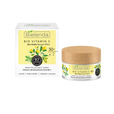 Bielenda Bio Vitamin C Revitalising Anti-Wrinkle Face Cream 50+ 50 ml