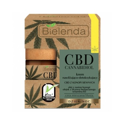 Bielenda CBD Cannabidiol Moisturizing And Detoxifying Face Cream 50 ml