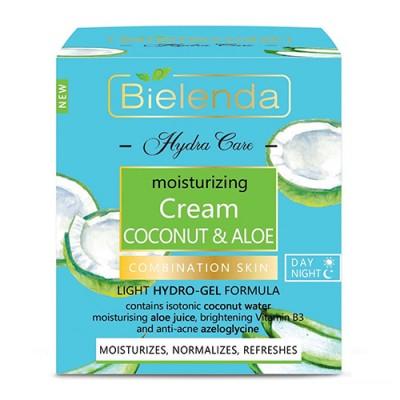 Bielenda Hydra Care Coconut & Aloe Moisturizing Face Cream Combination & Oily Skin 50 ml