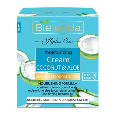 Bielenda Hydra Care Coconut & Aloe Moisturizing Face Cream Dry And Dehydrated Skin 50 ml