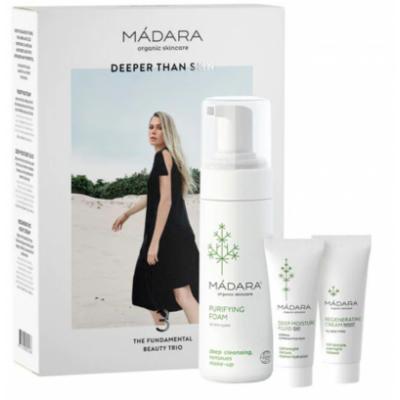 MÁDARA The Fundamental Beauty Trio 1 x 150 ml + 2 x 25 ml