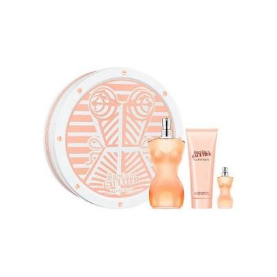 Jean Paul Gaultier Classique EDT + Perfumed Body Lotion + EDT Spray 100 ml + 75 ml + 5 ml