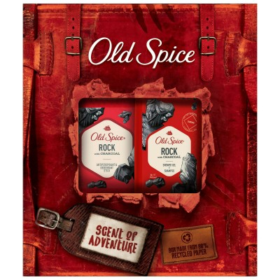Old Spice Gift Set Rock With Charcoal Shower Gel & Shampoo & Deo Stick 250 ml + 50 ml