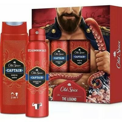 Old Spice The Captain Set Body Spray & Shower Gel 2 st
