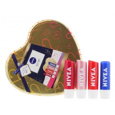 Nivea Soft Lips Gift Set 4 x 4,8 g