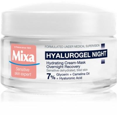 Mixa Hyalurogel Night Hydrating Cream Mask Overnight Recovery 50 ml
