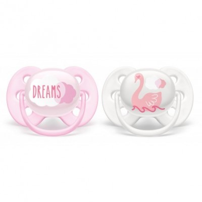 Philips Avent Soother Ultra Soft Pink 0-6M 2 st