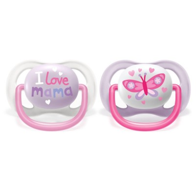 Philips Avent Soother Ultra Air Happy Pink 0-6M 2 st