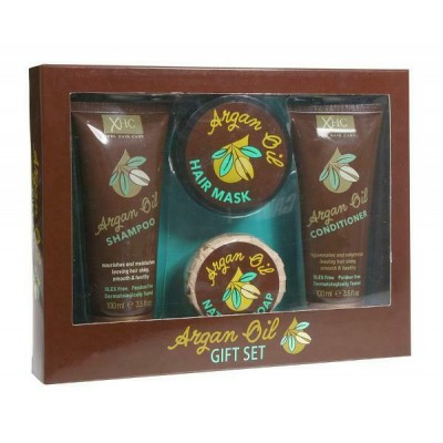 Argan Oil Box Set With Shampoo & Conditioner & Soap & Hair Mash 100 ml + 100 ml + 50 ml + 50 ml