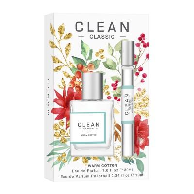 Clean Warm Cotton Duo EDP Holiday Set -lahjapakkaus 30 ml + 10 ml