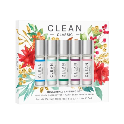 Clean Rollerball Layering Holiday Set EDP 5 x 5 ml