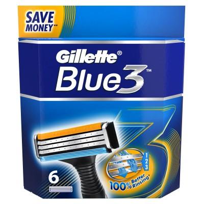 Image of   Gillette Blue3 Engangsskrabere 6 stk