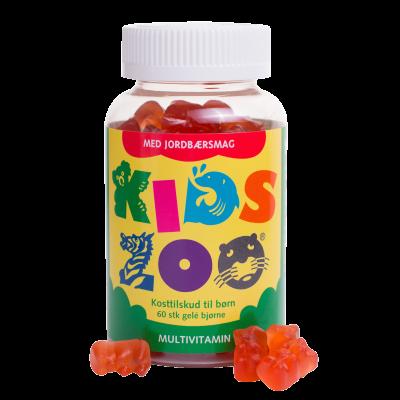 Kids Zoo Multivitamin Jordbærsmag Bjørn 60 stk