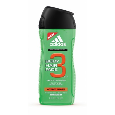 Image of   Adidas 3 in 1 Active Start Showergel 400 ml