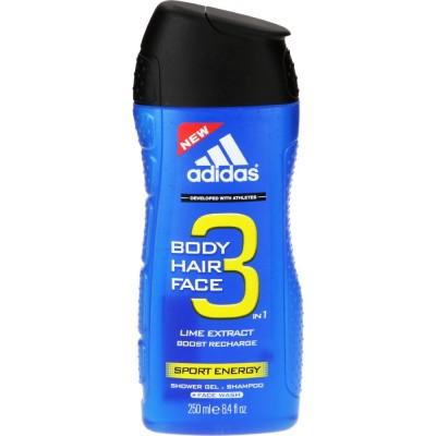 Adidas 3 in 1 Sport Energy Shower Gel 250 ml