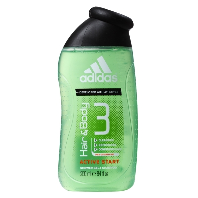 Adidas Active Start 3 in 1 Showergel 250 ml
