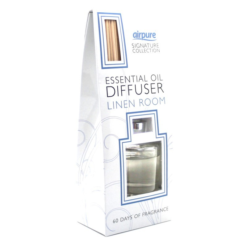 Airpure Reed Diffuser Home Collection Linen Room 30 Ml: Airpure Essential Oil Reed Diffuser Baumwollfrisch 30 Ml