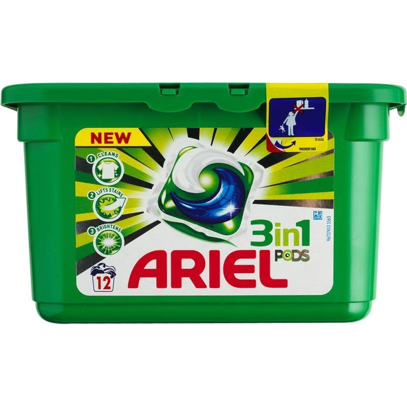 Ariel Pods 3-in-1 White 12 stk - 25.95 kr