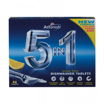 Astonish 5 in 1 Dishwasher Tablets Lemon 42 pcs