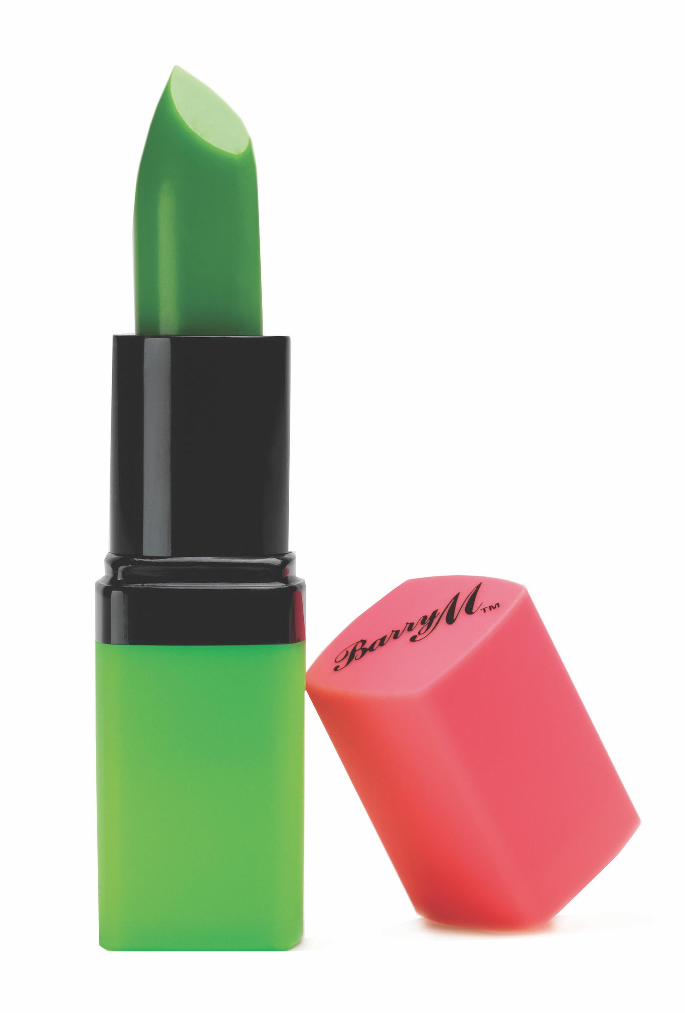 grönt läppstift som blir rosa