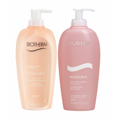 Image of   Biotherm Biosource Set Cleanser Milk + Tonic 400 ml + 400 ml