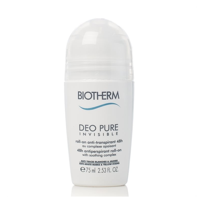 biotherm deo pure invisible 48h roll on 75 ml. Black Bedroom Furniture Sets. Home Design Ideas