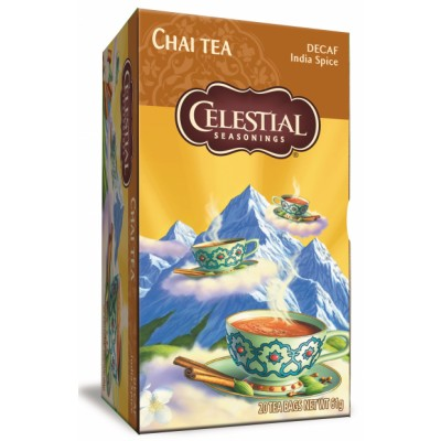 Celestial Chai Tea Decaf India Spice 20 st