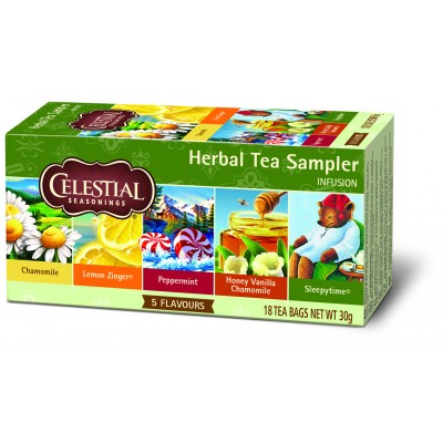 Celestial Herbal Tea Sampler 18 påsar