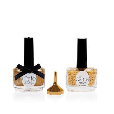 Image of   Ciaté Caviar Manicure Luxe Lustre Gold 60 g + 13,5 ml