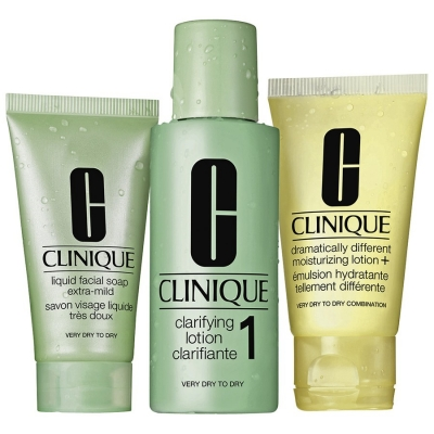 Clinique 3-Phasen Systempflege 1 Trockene bis Sehr Trockene Haut 50 ml + 100 ml + 30 ml