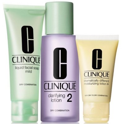 Clinique 3-Step Skin Care System 2 Dry Combination Skin 50 ml + 100 ml + 30 ml
