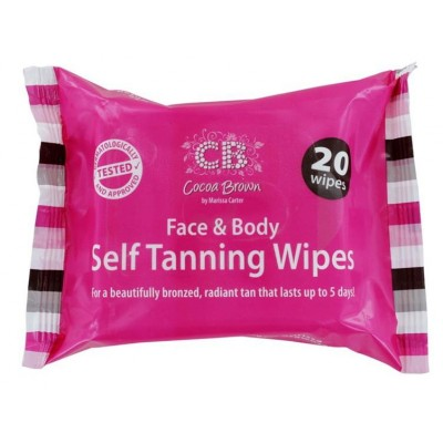 Cocoa Brown Face & Body Self Tanning Wipes 20 stk
