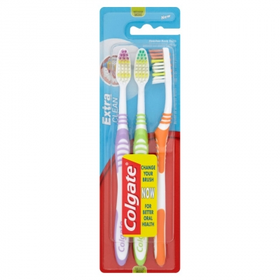 Colgate Extra Clean Medium Tandborste 3 st