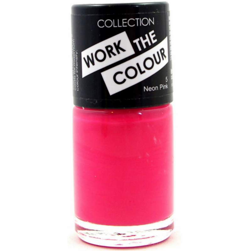 Collection Work The Colour Nail Polish Neon Pink 8 Ml