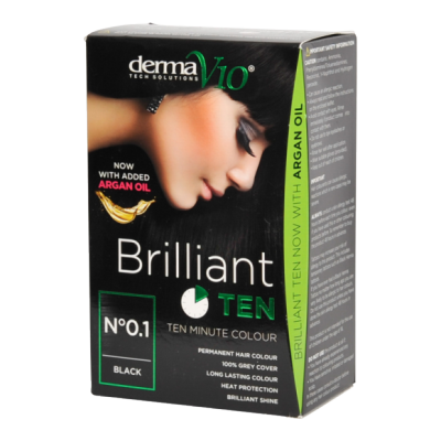 DermaV10 Brilliant Ten Hair Colour Black 1 st