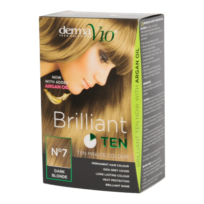 Image of   DermaV10 Brilliant Ten Hair Colour 7 Dark Blonde 1 stk