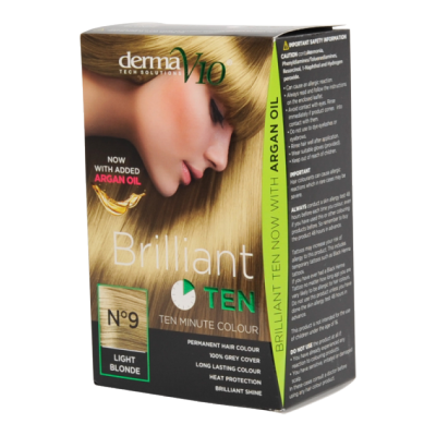 Image of   DermaV10 Brilliant Ten Hair Colour 9 Light Blonde 1 stk