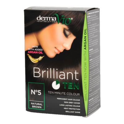 DermaV10 Brilliant Ten Hair Colour 5 Natural Brown 1 stk