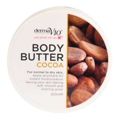 DermaV10 Cocoa Body Butter 220 ml